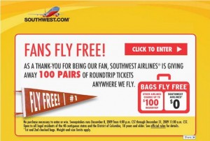 Southwest Airlines Fans Fly Free on Facebook
